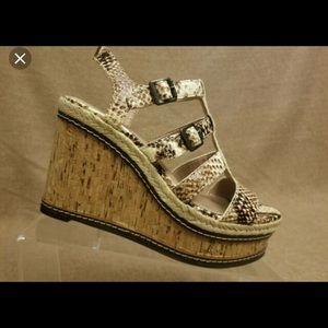 Vince Camuto Serafina wedge sandals Sz 7 NEW